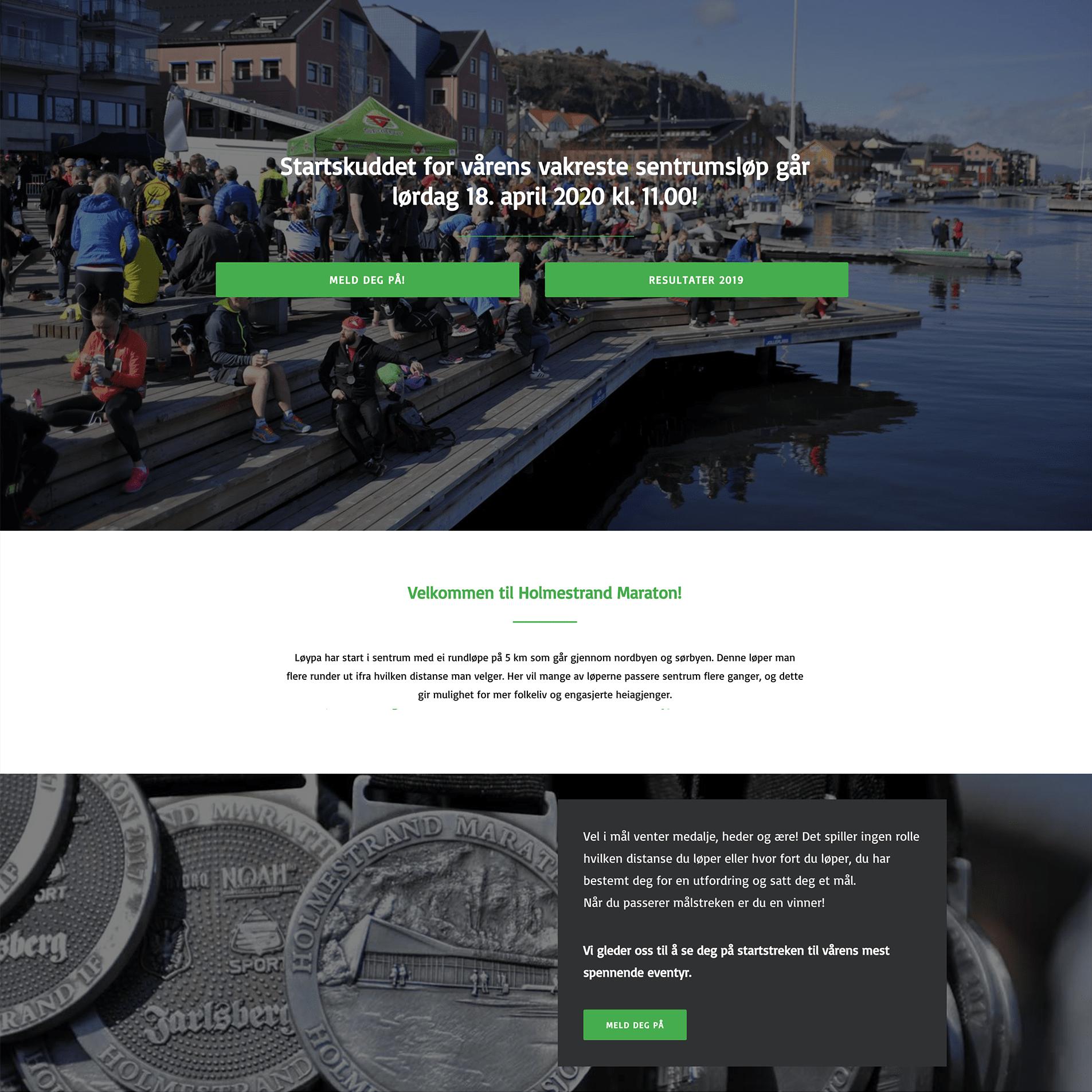 Holmestrand webside