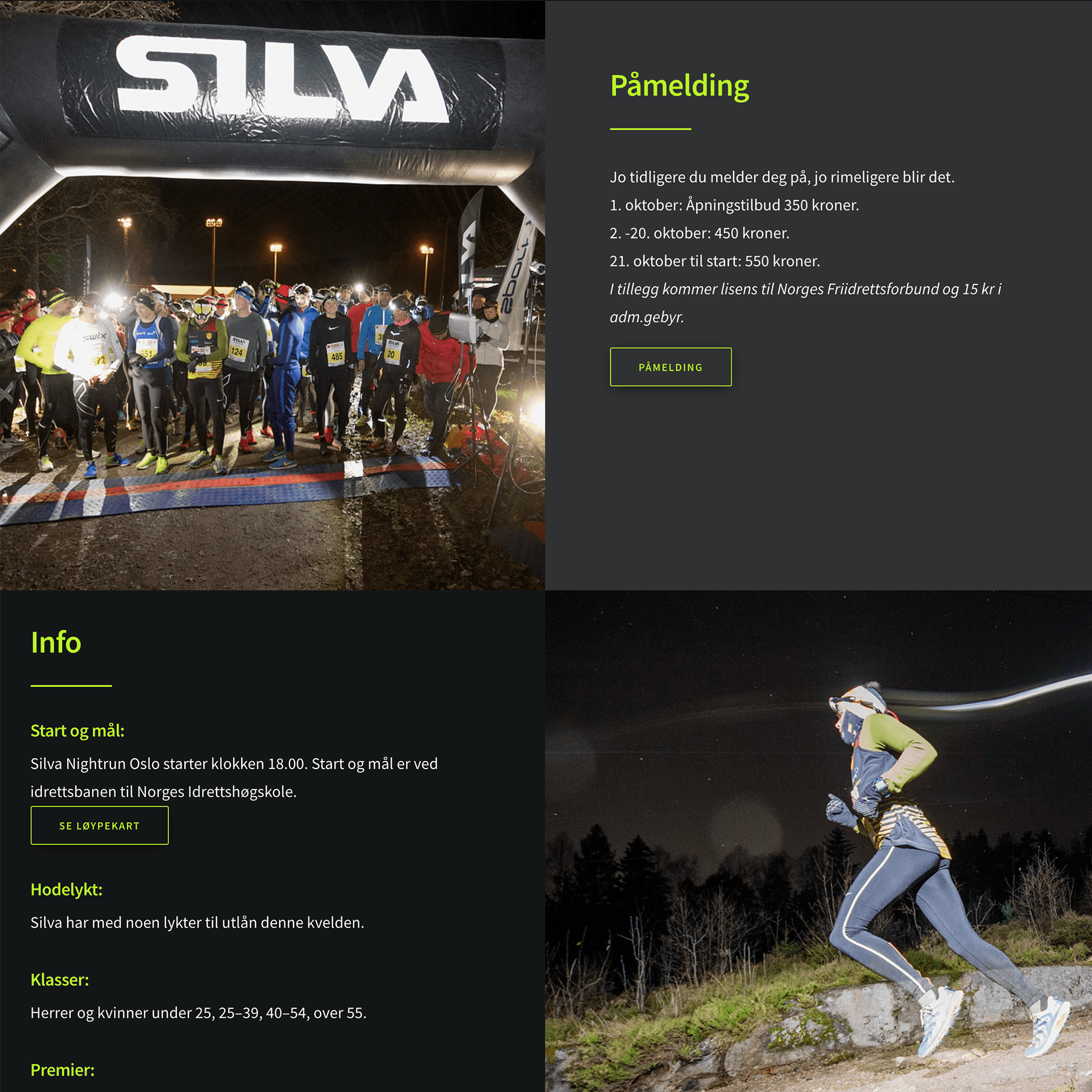 Nightrun webside