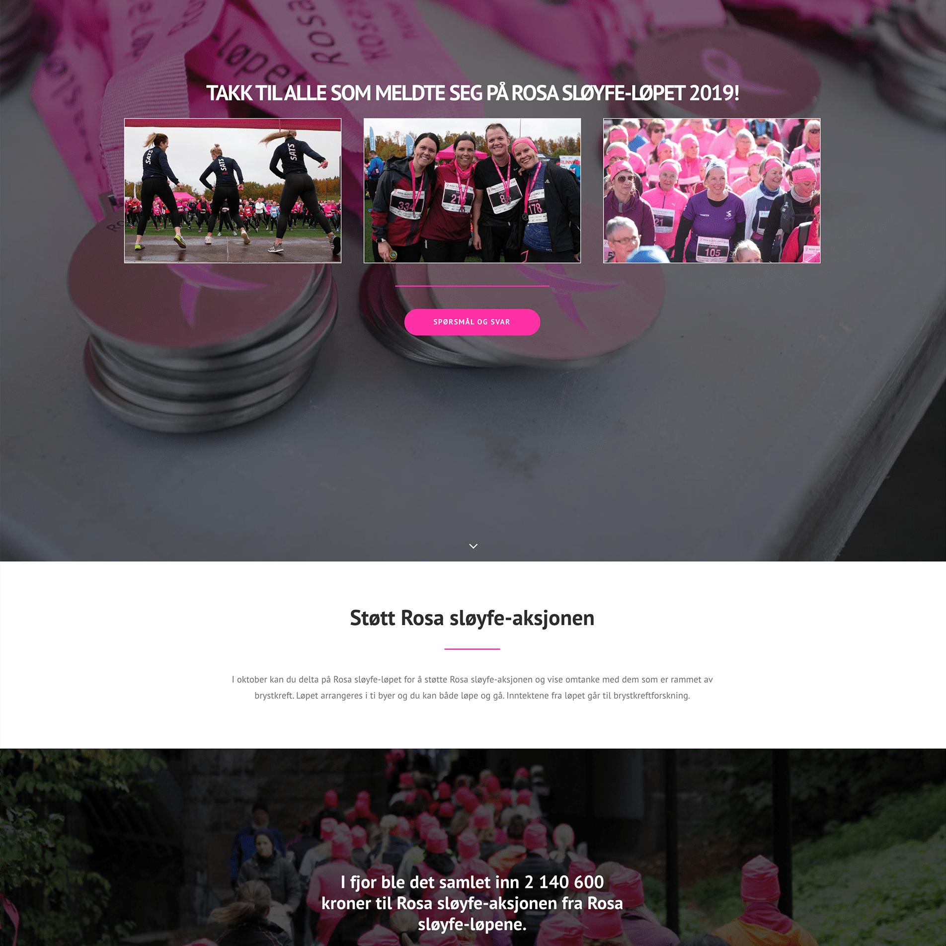 Rosa Sløyfe webside